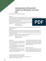 anticoagulado con fibrilación auricular