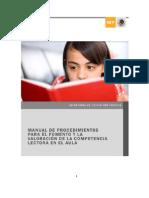 MANUAL DE PROCEDIMIENTOS PARA EL FOMENTO Y LA VALORACION DE LA COMPETENCIA LECTORA EN EL AULA