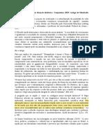 Manfredo Oliveira - Análise da conjuntura
