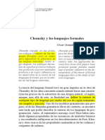 chomsky y los lenguajes formales