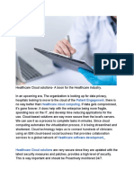 Healthcare Cloud Solutions
