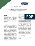 informe 5 destilacion simple