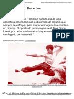 Texto Luis Bernardo Pericás - Bruce Lee