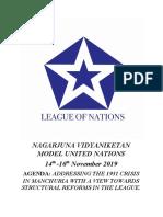 NAGARJUNA VIDYANIKETAN MODEL UNITED NATIONS LoN