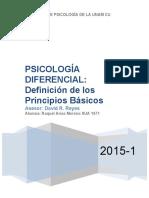 Definición de los principios básicos de psicología diferencial