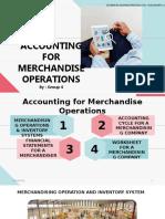Merchandise Accounting