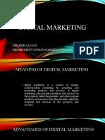 Digital marketing presentation by Niharika daga