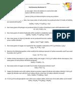 Stoichiometry Worksheet #1