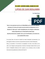 EL APOCALIPSIS DE DON BENJAMIN