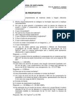 Exercícios propostos de ensaios e materiais