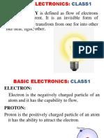 BASIC ELECTRONICS class1