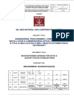 Transportation report ref for Offshore structure
