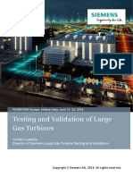 Testing and Validation of Large Gas Turbines