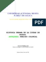 Balderas Jose L - Historia Ciudad de Oaxaca P.colonial