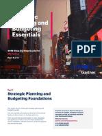 Strategic Planning & Budget Essentials Part -1 by Gartner