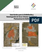 Guia de Delimitacion y Homologacion de areas urbanas