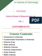 Antenna Design & Measurements Laboratory Lecture1