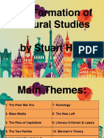 The Formation of Cultural Studies (Summary)