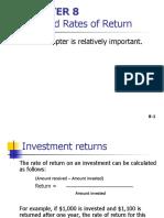 Risks and Rate of Return  Presentation.ppt