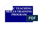 BASIC TEACHING SKILLS TRAINING PROGRAM
