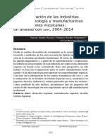 La concentración de las industrias de alta tecnología y manufactureras en las regiones mexicanas