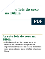 12 - As sete leis do sexo na Bíblia
