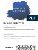 PATTERNS OF SUBSISTENCE (1)