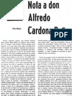 Nota a Don Alfredo Carmona Peña