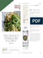 Fresh Pasta with Asparagus and Wild Garlic   Daylesford