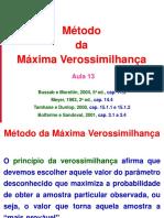Aula 13 - Metodo Maxima Verossimilhança