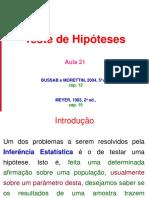 Aula 21 - Teste de Hipóteses