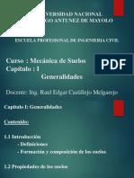 Mecánica Suelos I - Cap I - Generalidades [Autoguardado].pdf