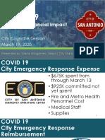 Financial impacts on San Antonio due to COVID-19