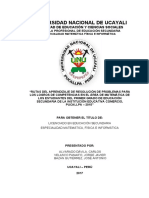 RUTAS DEL APRENDIZAJE DE RESOLUCIÓN DE PROBLEMAS PARA LOS LOGROS DE COMPETENCIAS EN EL ÁREA DE MATEMÁTICA DE LOS ESTUDIANTES DEL PRIMER GRADO DE EDUCACIÓN SECUNDARIA DE LA INSTITUCIÓN EDUCATIVA COMERCIO, PUCALLPA – 201