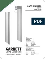 Garrett CS 5000 Manual