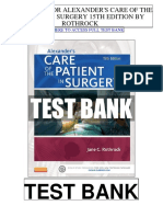 Alexanders Care Patient Surgery 15th Rothrock Test Bank