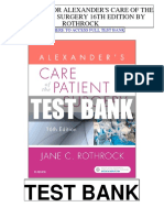 Alexanders Care Patient Surgery 16th Rothrock Test Bank