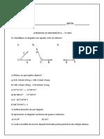 Atividade matemática  setimo ano primeiro bimestre