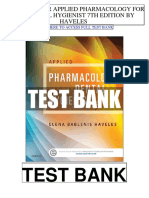 Applied Pharmacology Dental Hygienist 7th Haveles Test Bank