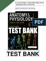Anatomy Physiology 10th Patton Test Bank
