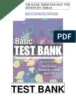 Basic Immunology 5th Abbas Test Bank