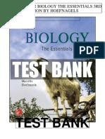 Biology Essentials 3rd Hoefnagels Test Bank