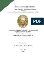 DISTRIBUCIÓN DEL INGRESO Y LA INVERSIÓN MUNICIPALES EN EL PERÚ