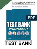 Cellular Molecular Immunology 9th Abbas Test Bank