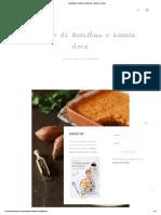 Empadão de lentilhas e batata doce - Made by Choices