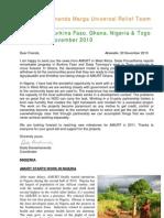 AMURT West Africa Newsletter December 2010