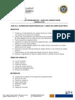 GUÍA No 3. SUPERFICIES EQUIPOTENCIALES Y LINEAS CAMPO  ELÉCTRICO