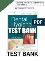 Dental Hygiene 4th Darby Test Bank