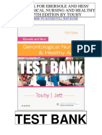 Ebersole Hess Gerontological Nursing Healthy Aging 5th Touhy Test Bank