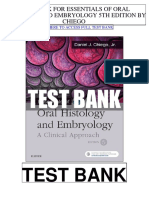 Essentials Oral Histology Embryology 5th Chiego Test Bank